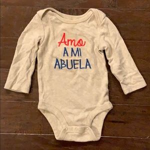 5 items/ $15 - Abuela Bodysuit Onesie